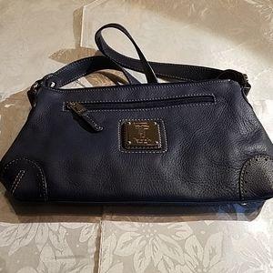 Tignanello blue leather handbag